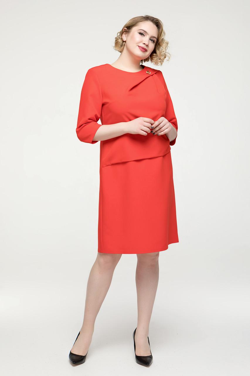 Платье красное Бриллиант 56