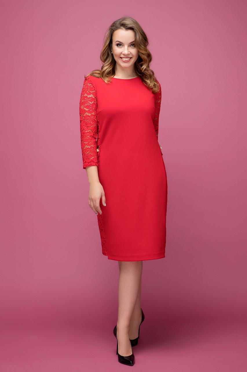Платье красное Джулия 50