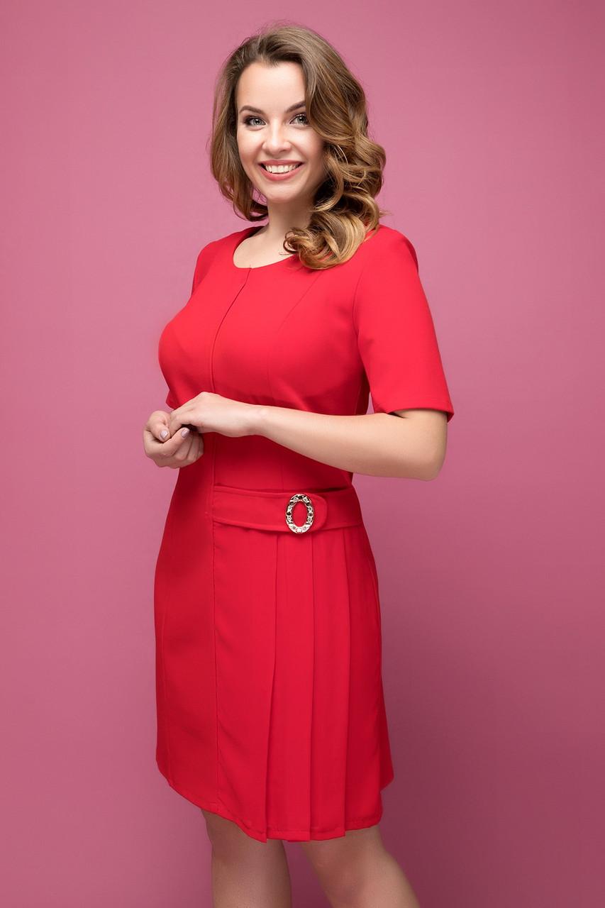 Платье красное Давина 50