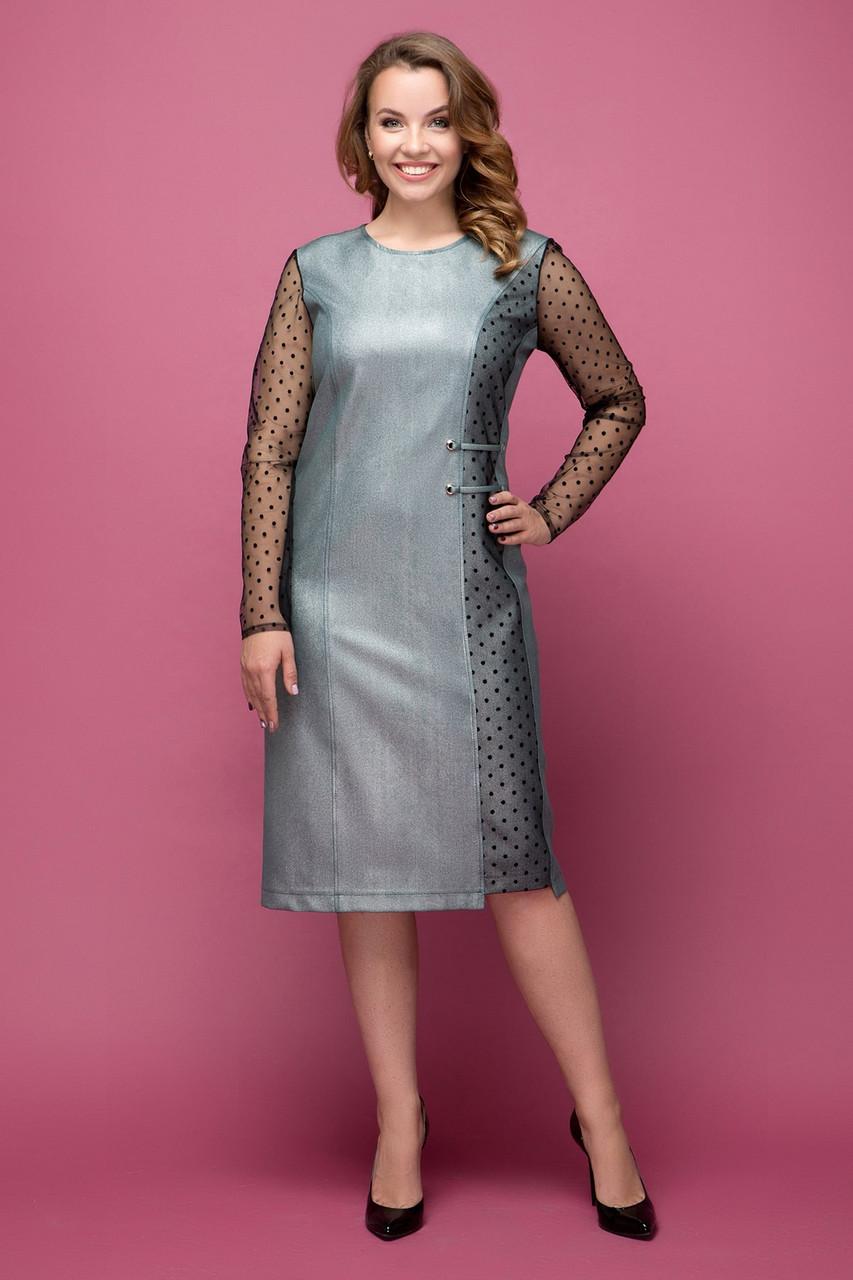Платье серебристое Тереза 50