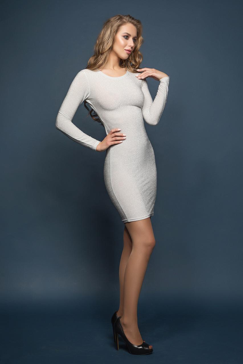 Платье серебристое Лолита 42
