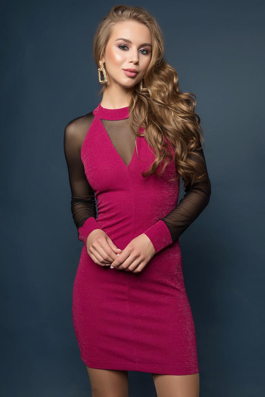 Платье фуксия Тина 42