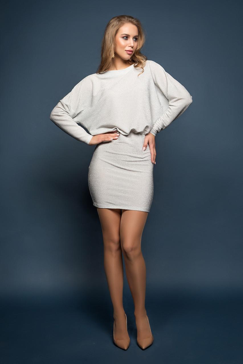Платье серебристое Милена 44