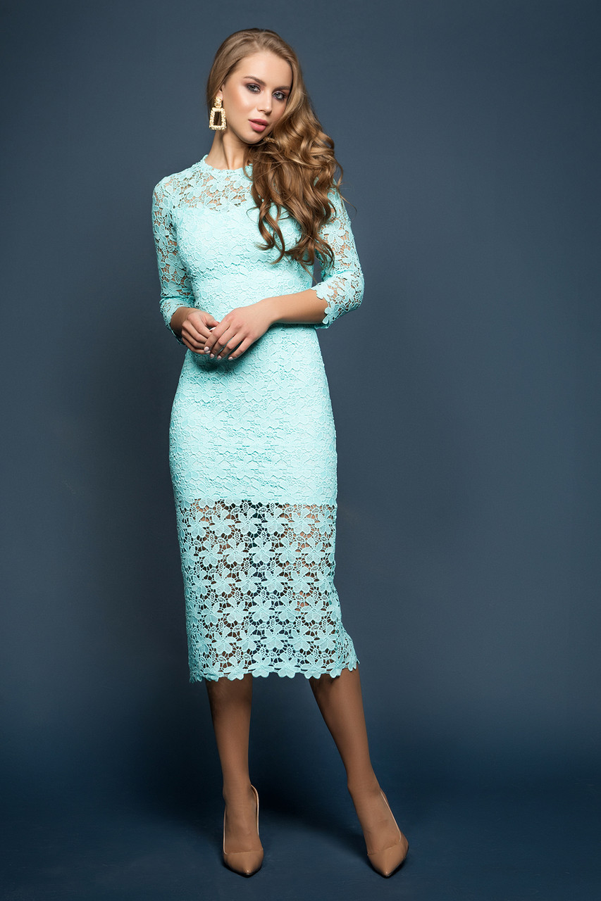 Платье мята Моника 42