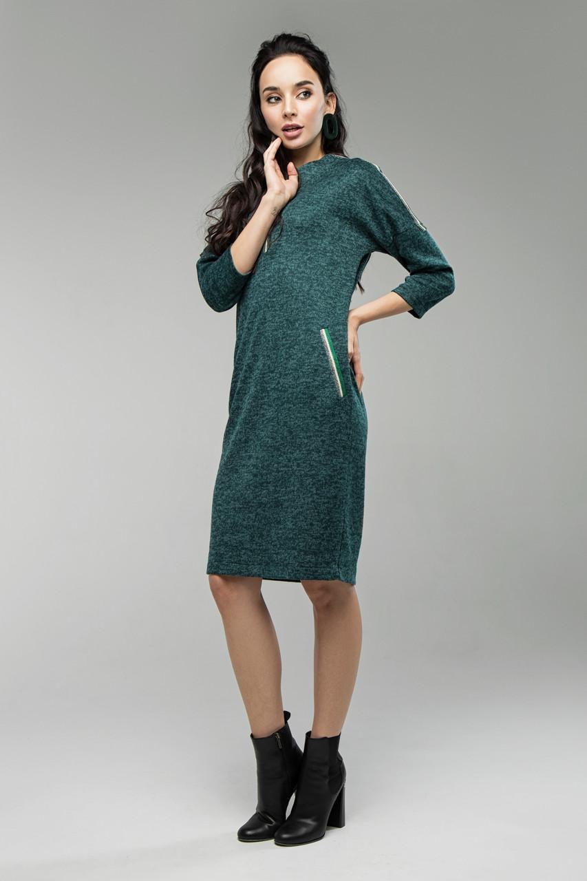 Платье изумрудное Лиза 44