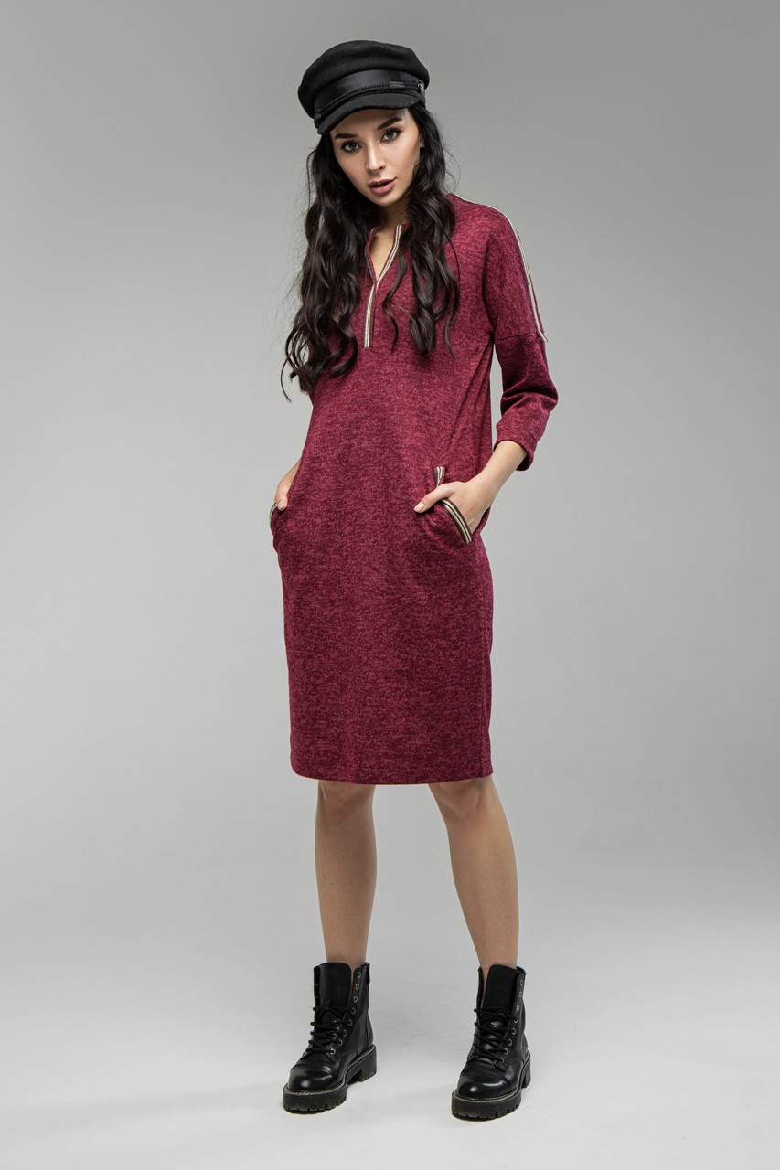 Платье марсала Лиза 44