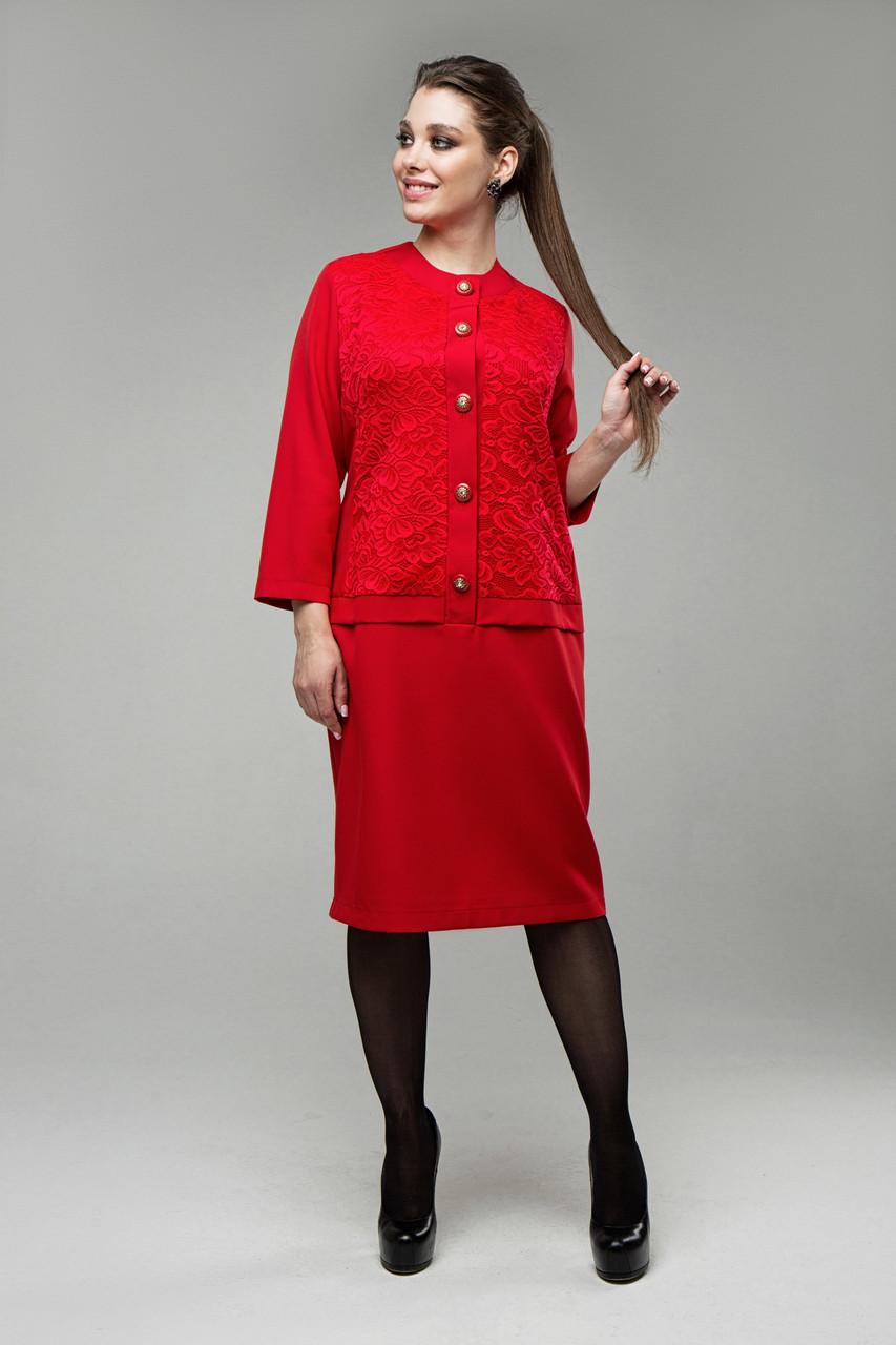 Платье красное Феерия 50