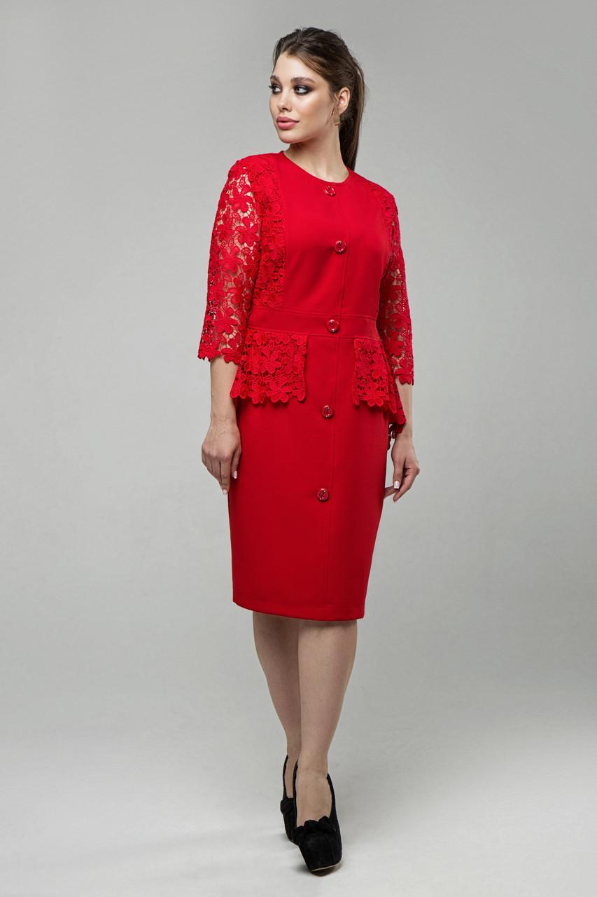 Платье красное Дарья 48