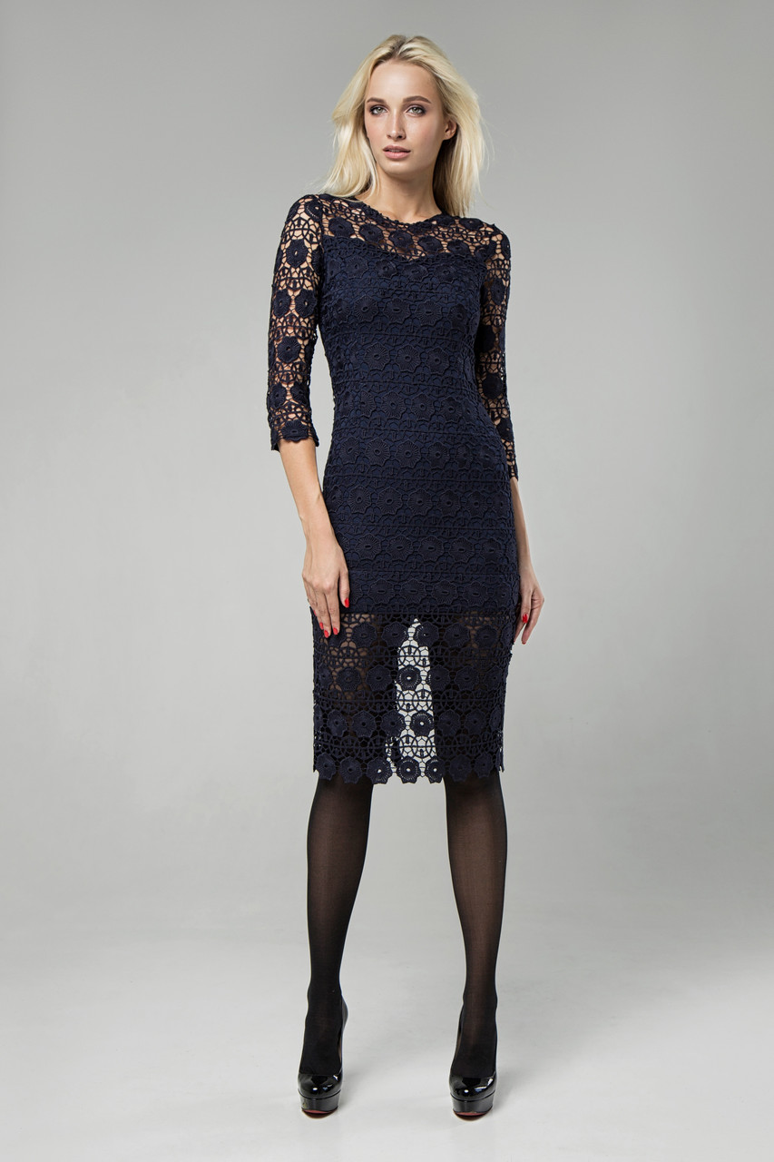 Платье синее Моника 42