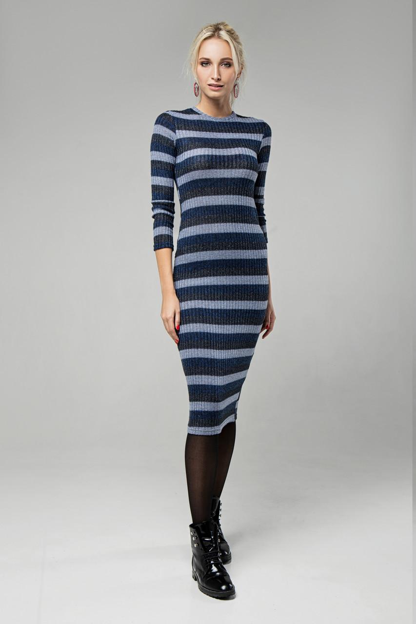 Платье синее Перло 42