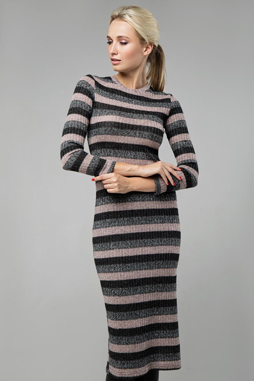 Платье розовое Перло 44