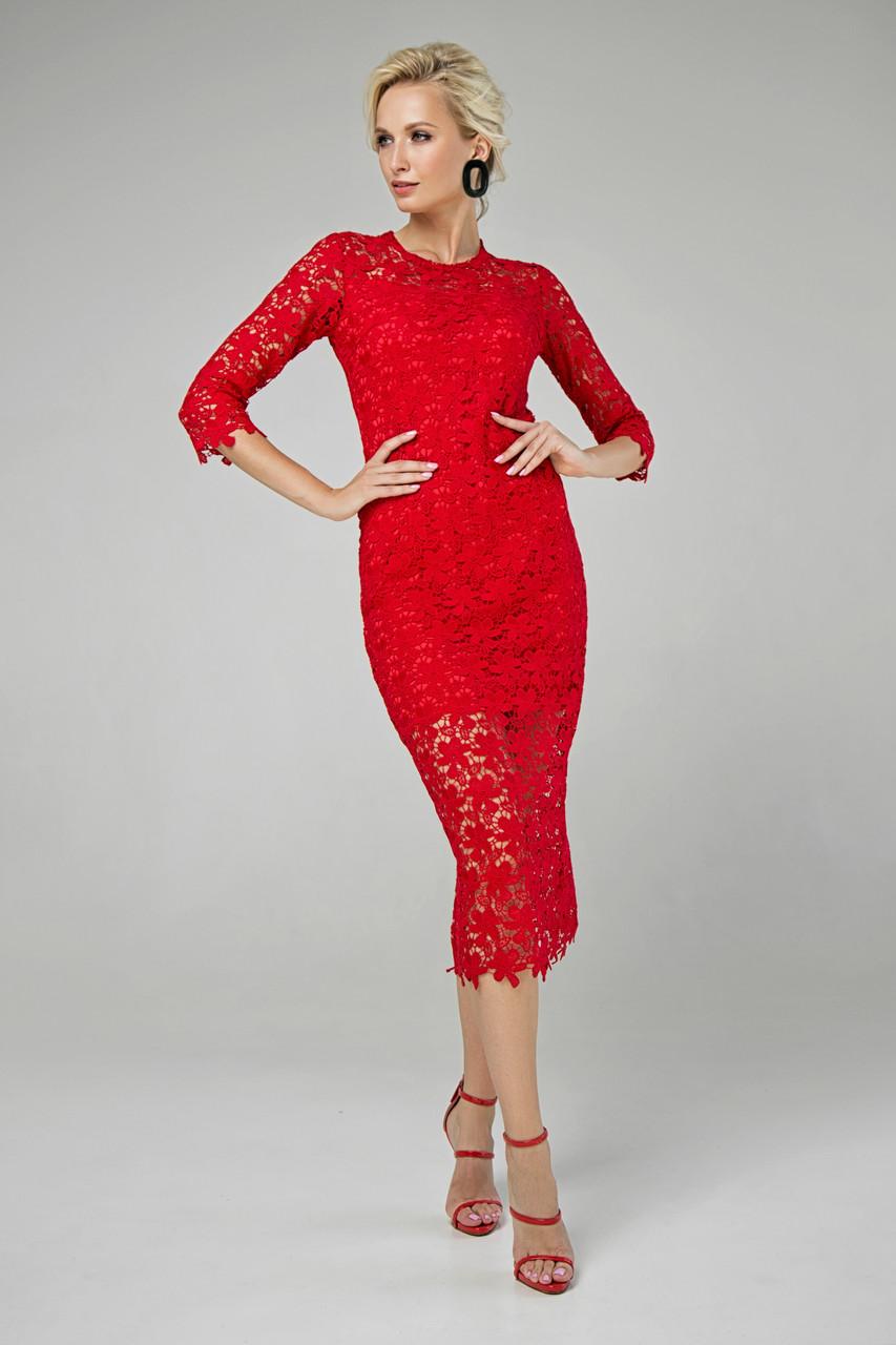 Платье красное Моника 42