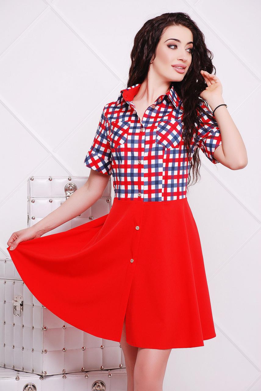 Платье красное Версаль 42