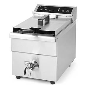 Фритюрница индукционная 8 л. 230V / 3500W - 290x485x(H)406 мм со сливом масла Kitchen Line - 8 L Hendi