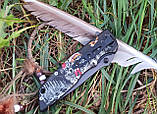 "Нож полуавтомат Browning ""Индеец и Амарок"" DA80 +паракорд, фото 3"