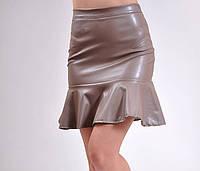 Кожаная юбка Волна