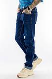 Мужские джинсы длинный рост FRANCO BENUSSI 21-509 темно-синие, фото 3