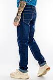 Мужские джинсы длинный рост FRANCO BENUSSI 21-509 темно-синие, фото 6