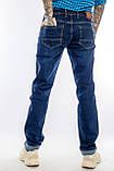 Мужские джинсы длинный рост FRANCO BENUSSI 21-509 темно-синие, фото 7