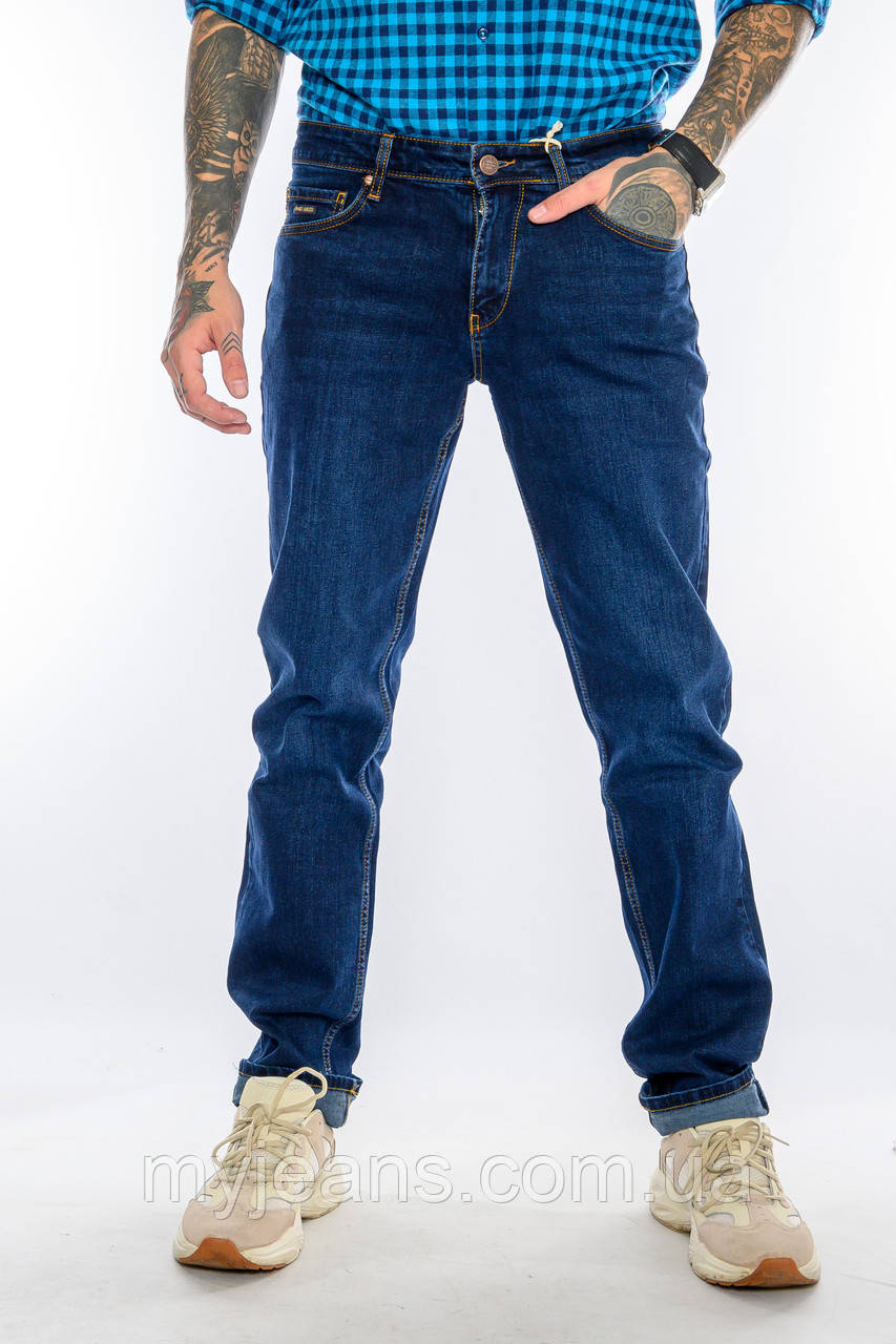 Мужские джинсы длинный рост FRANCO BENUSSI 21-509 темно-синие