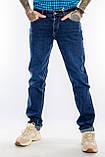 Мужские джинсы длинный рост FRANCO BENUSSI 21-509 темно-синие, фото 5