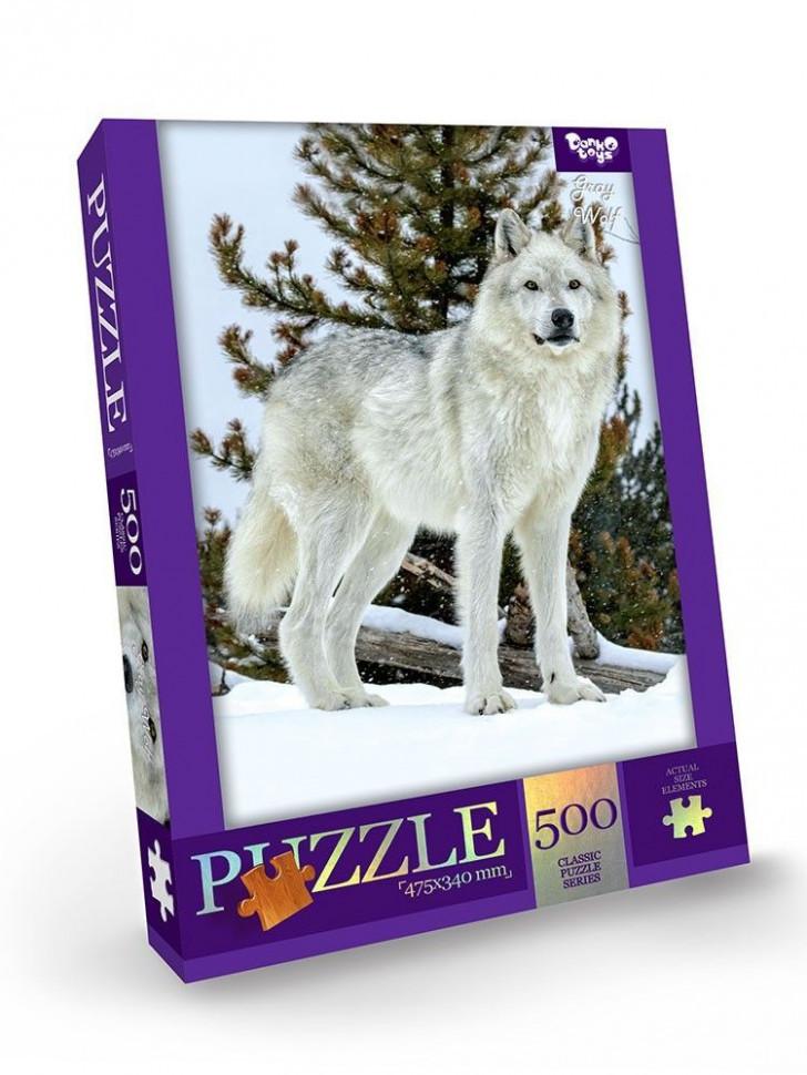 Пазлы 500 элементов C500-13-01-12 (Белый волк)