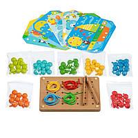 Игрушки из дерева Мир деревянных игрушек Детская мозаика шнуровка (Д421)