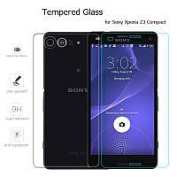 Защитное стекло 2в1 Premium Tempered Glass 0.26mm (2.5D) для Sony D5803, D5833 Xperia Z3 Compact