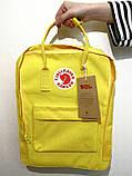Детский рюкзак-сумка канкен желтый на девочку Fjallraven Kanken classic, фото 3