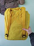 Детский рюкзак-сумка канкен желтый на девочку Fjallraven Kanken classic, фото 6