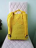 Детский рюкзак-сумка канкен желтый на девочку Fjallraven Kanken classic, фото 2