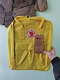Детский рюкзак-сумка канкен желтый на девочку Fjallraven Kanken classic, фото 5