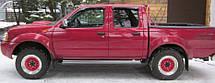Вітровики Ніссан Фронтиер | Дефлектори вікон Nissan Frontier (D22) 2001-2005