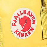 Рюкзак-сумка канкен желтый Fjallraven Kanken classic школьный, для девочки, фото 9
