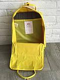 Рюкзак-сумка канкен желтый Fjallraven Kanken classic школьный, для девочки, фото 6
