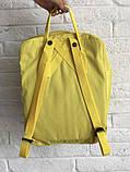 Рюкзак-сумка канкен желтый Fjallraven Kanken classic школьный, для девочки, фото 5