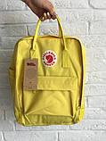 Рюкзак-сумка канкен желтый Fjallraven Kanken classic школьный, для девочки, фото 4