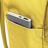 Рюкзак-сумка канкен желтый Fjallraven Kanken classic школьный, для девочки, фото 10