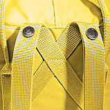 Женский рюкзак-сумка канкен Fjallraven Kanken classic желтый, фото 8