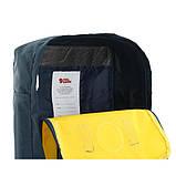 Женский желто-синий рюкзак сумка Fjallraven Kanken Classic канкен 16 л, фото 8