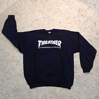 Свитшот черный демисезонный TRASHER skateboard magazine