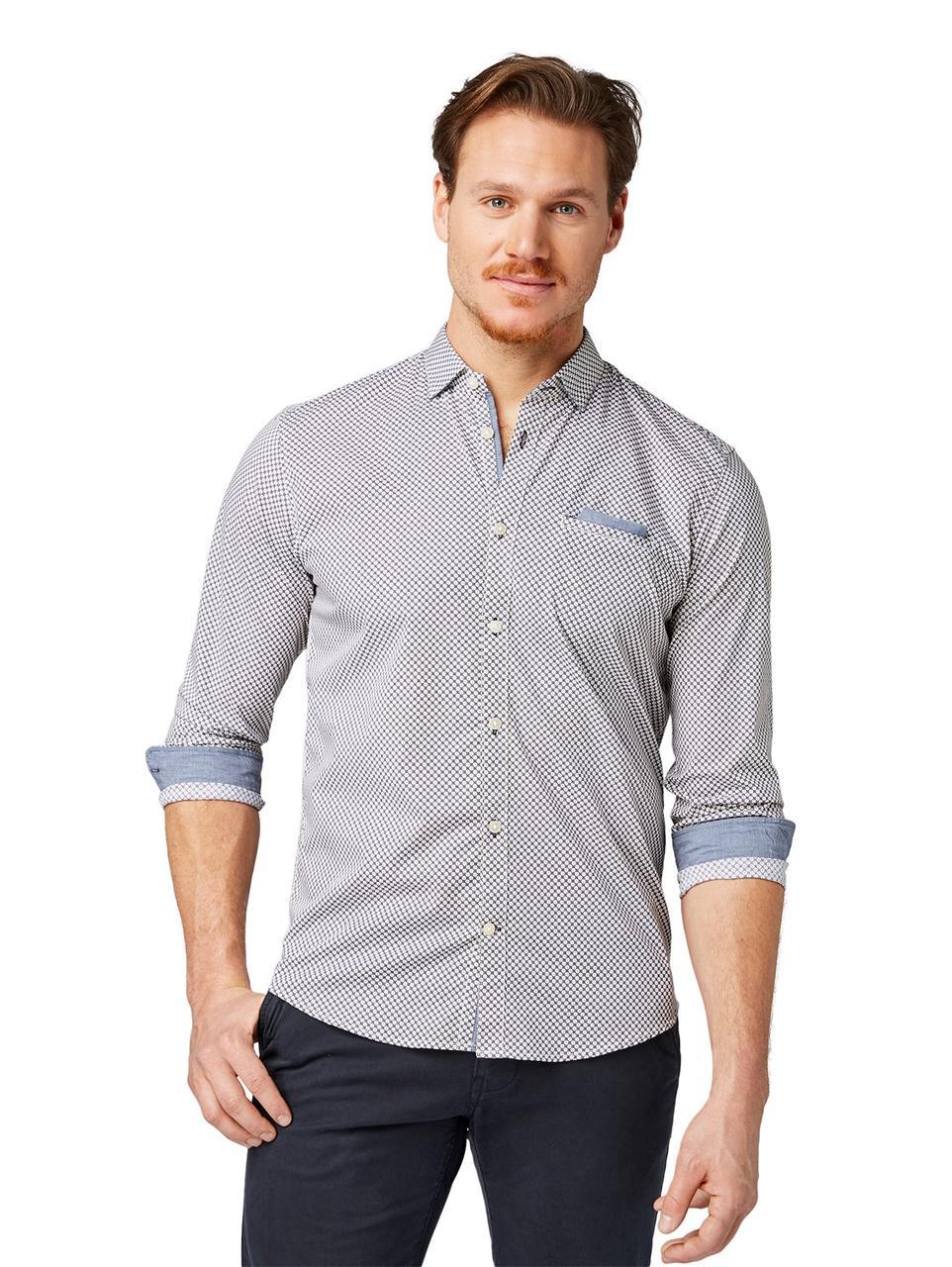 Рубашка Tom Tailor 1008593 XL Серый
