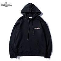 Худи Balenciaga 2019 Line logo mini черное с логотипом, унисекс
