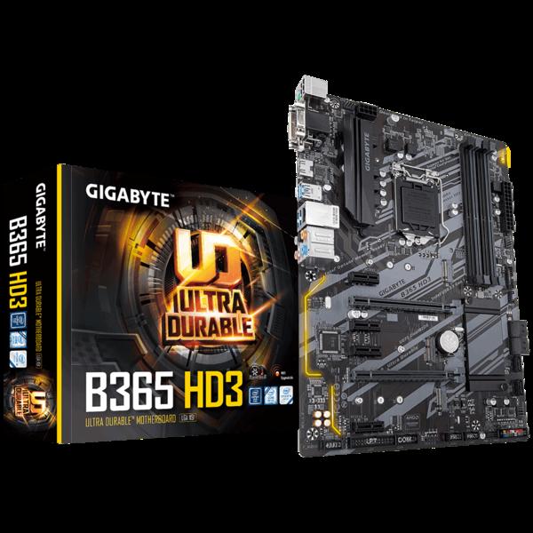 Мат.плата s1151 B365 Gigabyte B365 HD3 (ATX 4xDDR4 2666 HDMI 1xM.2) (B365 HD3)