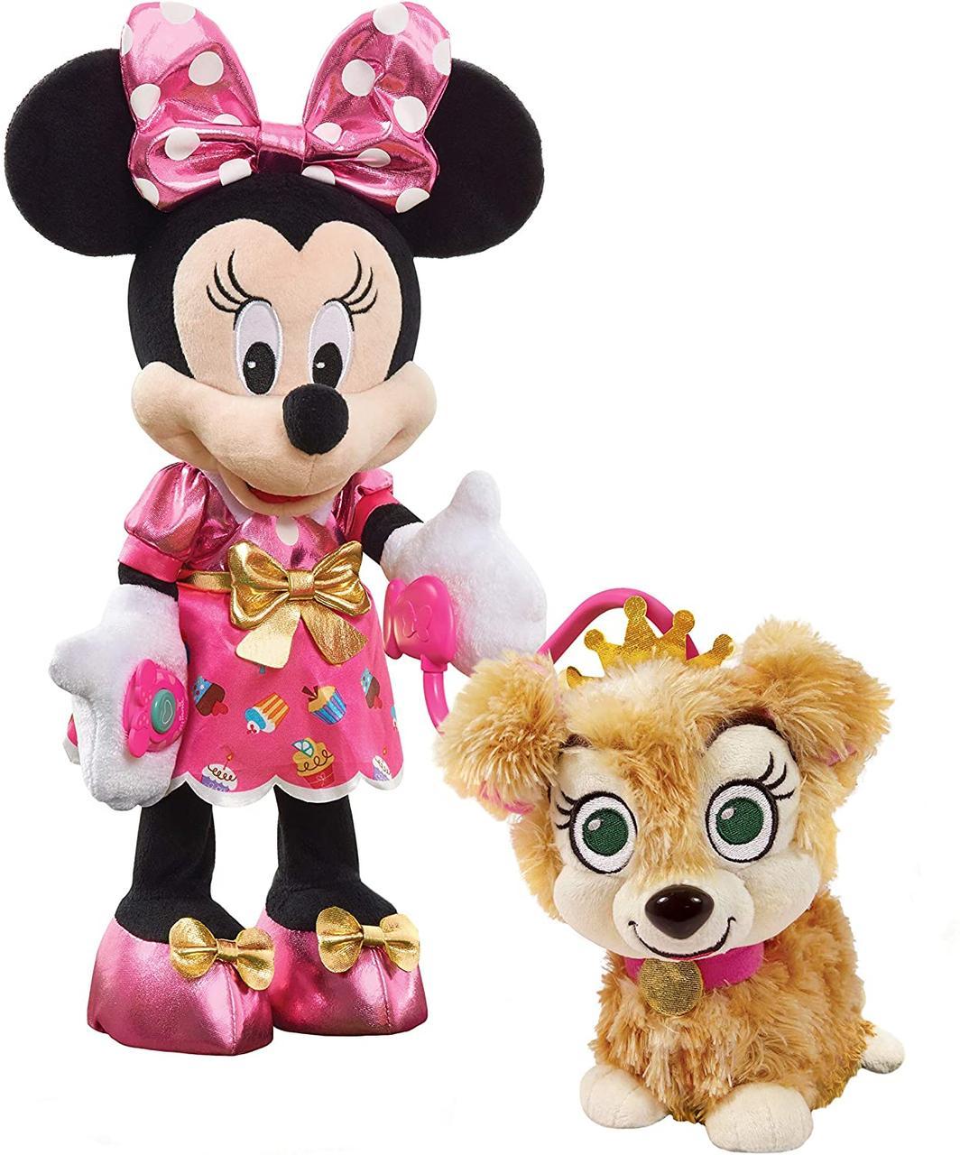 Набор Интерактивные Минни Маус и собачка Disney Junior Minnie's Party & Play Puppy Оригинал из США