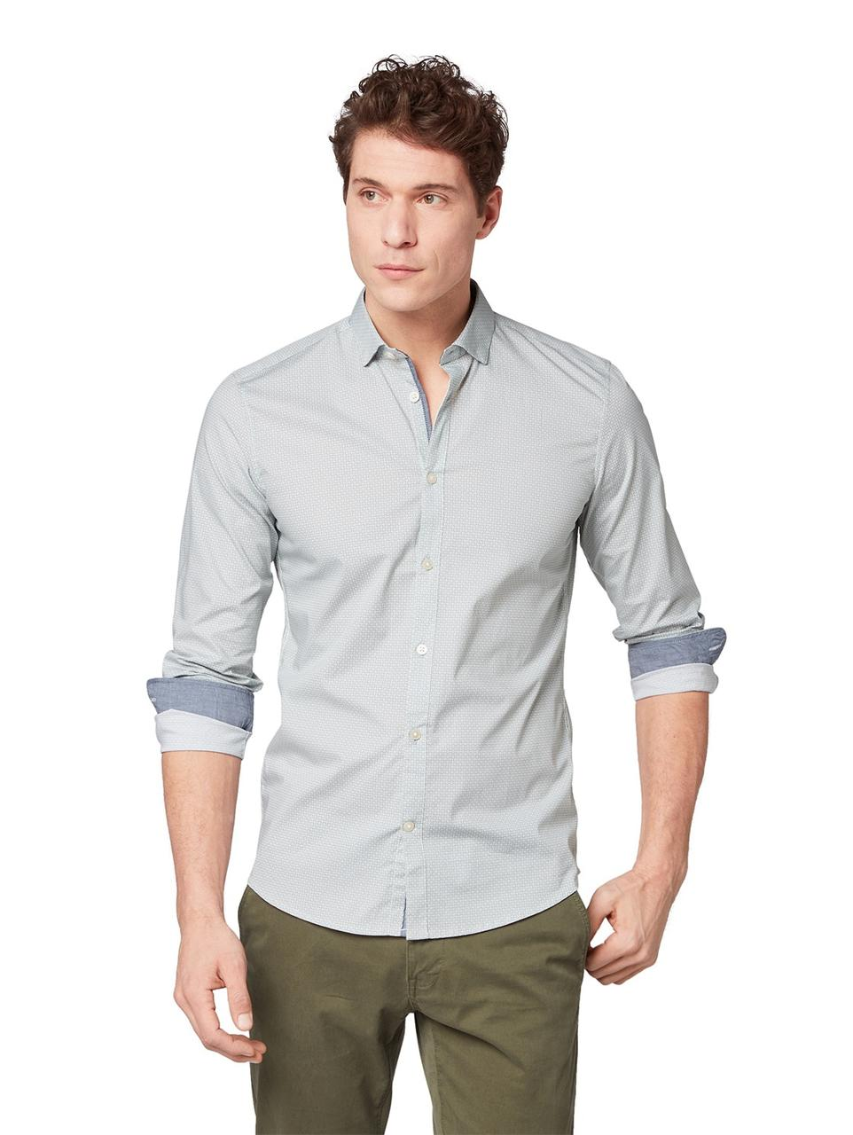 Рубашка Tom Tailor 1008594 L Серый