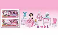 Кукла с мебелью 2768 (12) 2 вида, питомец, с аксессуарами, в коробке