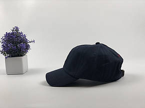 Кепка Бейсболка Мужская Женская Polo Ralph Lauren с тканевым ремешком Темно-Синяя с Красным лого, фото 2