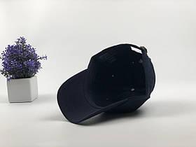 Кепка Бейсболка Мужская Женская Polo Ralph Lauren с тканевым ремешком Темно-Синяя с Красным лого, фото 3