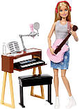Игровой набор Барби шарнирная музыкант с гитарой и пианино, Barbie Girls Music Blonde Activity, Mattel, фото 2